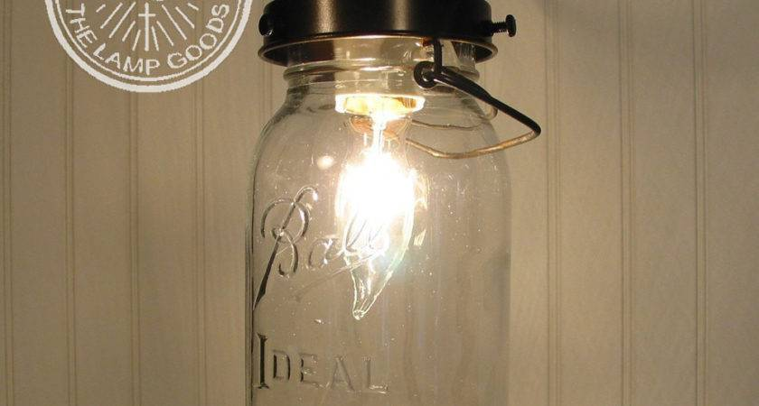 Mason Jar Pendant Light Vintage Quart Farmhouse