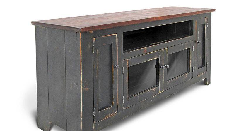 Media Console Stand Reclaimed Wood Farmhouse