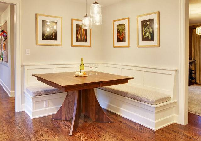 Mercer Island Dining Table Built Benches