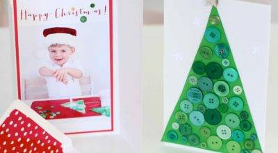 Messy Play Diy Button Christmas Cards