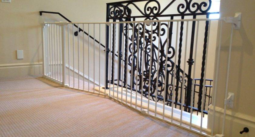 Metal Baby Gate Stairs Banister Best Gates