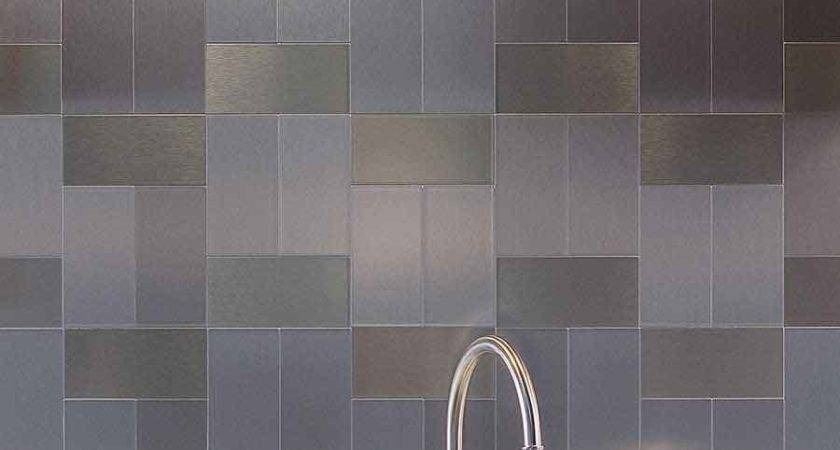 Metal Tiles Kitchen Backsplash