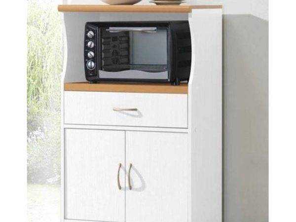 Microwave Cart Stand Kitchen Rolling Storage Cabinet