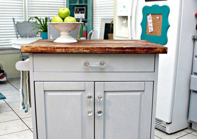 Microwave Cart Turned Kitchen Island Mom Real