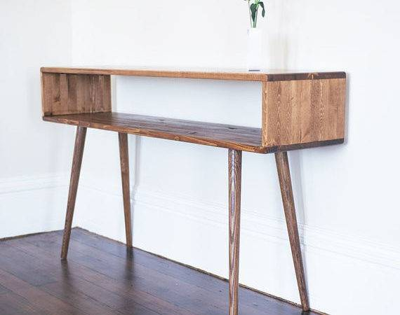 Mid Century Inspired Sofa Table Made Order