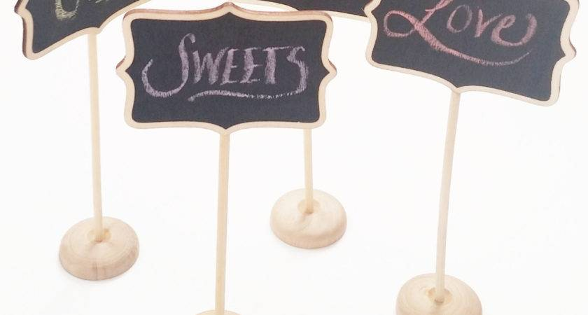 Mini Chalkboard Table Signs Stand Chic Threetwo