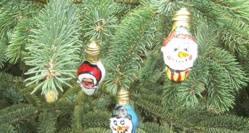Mini Christmas Tree Ornaments Light Bulb Carriescraftstore