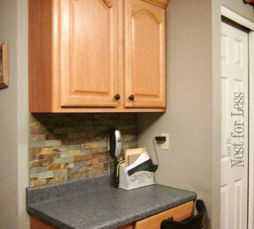 Mini Makeover Crown Molding Kitchen Cabinets