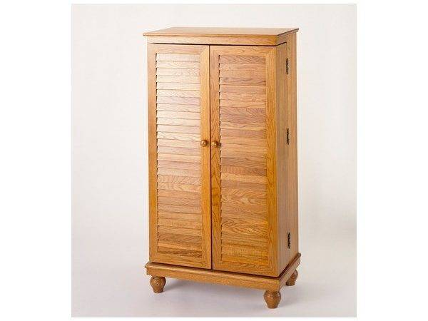 Mission Style Louvered Door Media Cabinet Housewarming Gifts