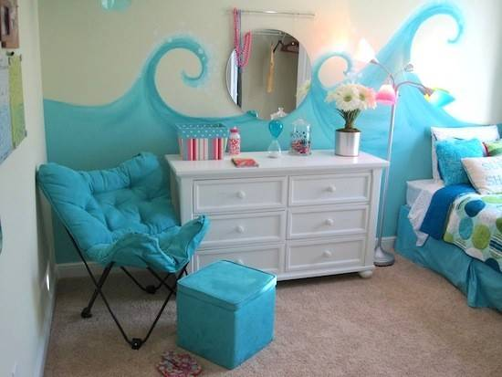 Model Home Tour Girl Beach Theme Bedroom