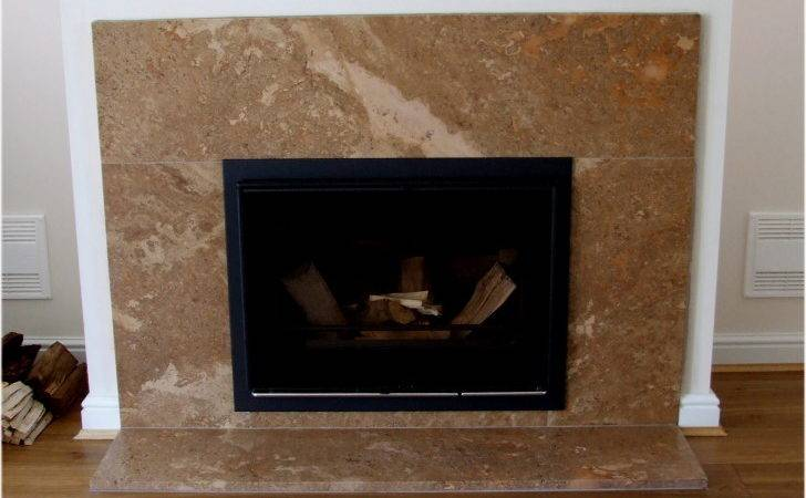 Modern Fireplace Design Gray Marble Surround