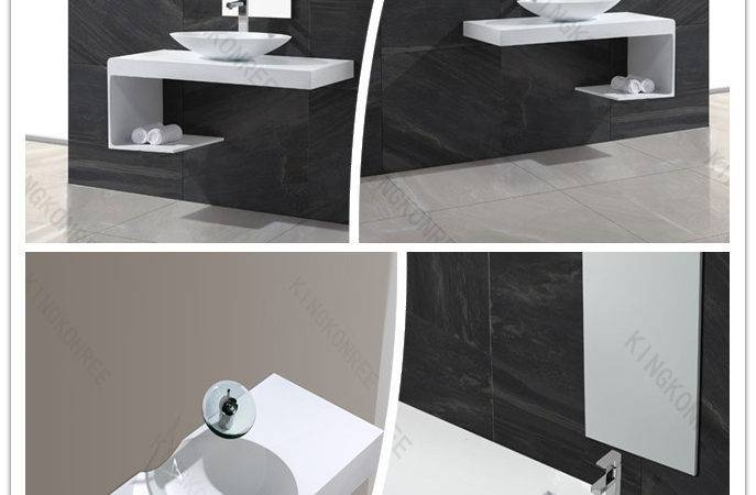 Modern Solid Surface Small Bathroom Sink Drainer