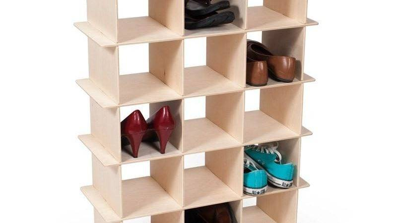 Modern Wood Shoe Storage Cubby Sprout