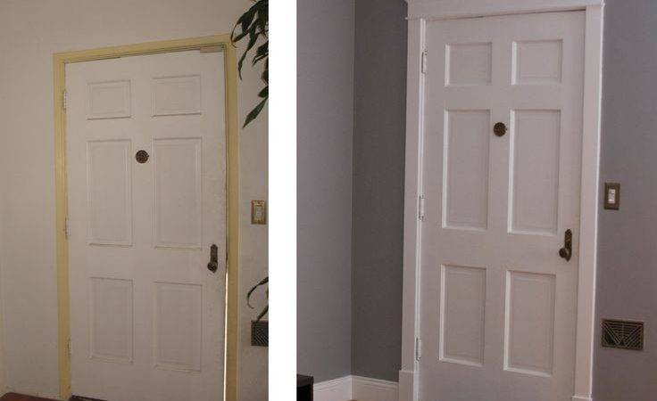 Molding Before After New Paint Around