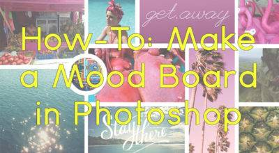 Mood Boards Photoshop Beginners