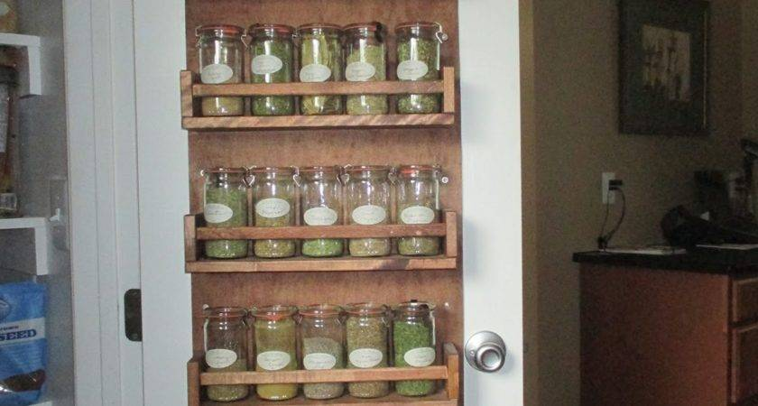 More Exciting Ideas Spice Rack Pantry Door