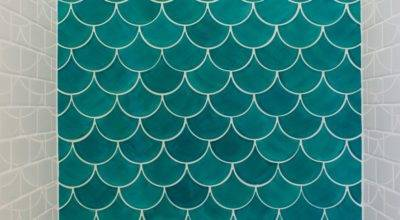 Moroccan Fish Scale Tile Bathroom Trends Construction Style