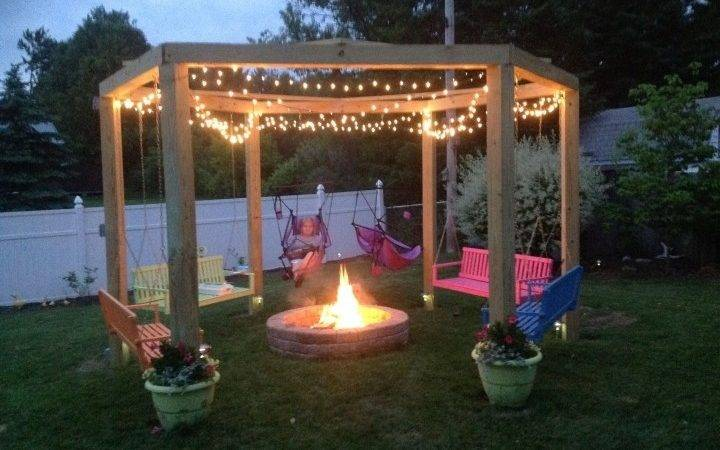 Most Inspiring Love Our Fire Pit Swing Gardening
