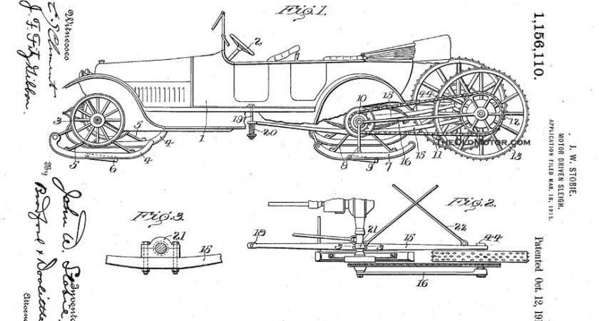 Motor Sleigh Patents Winter Travel Ford Barn