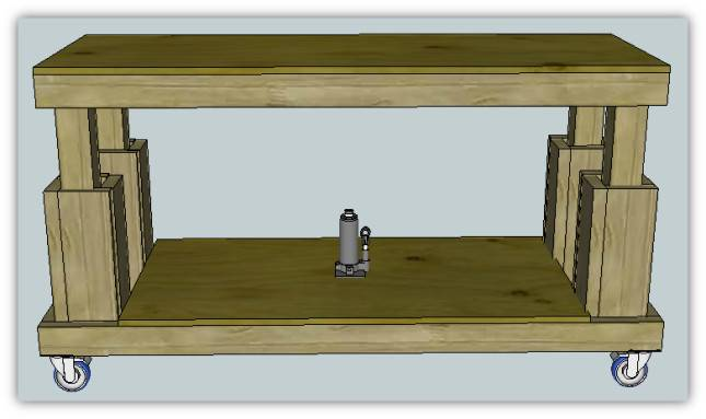 Movable Workbench Plans Diy Build