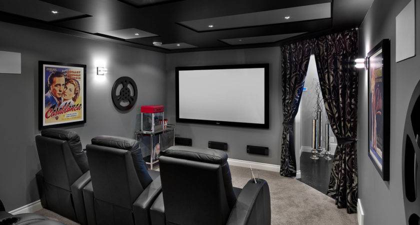 Movie Theater Room Decor Home Transitional