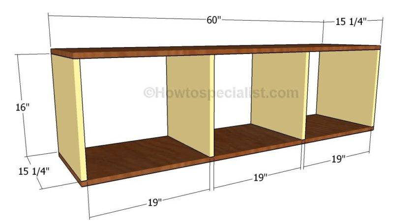 Mudroom Bench Plans Howtospecialist Build Step