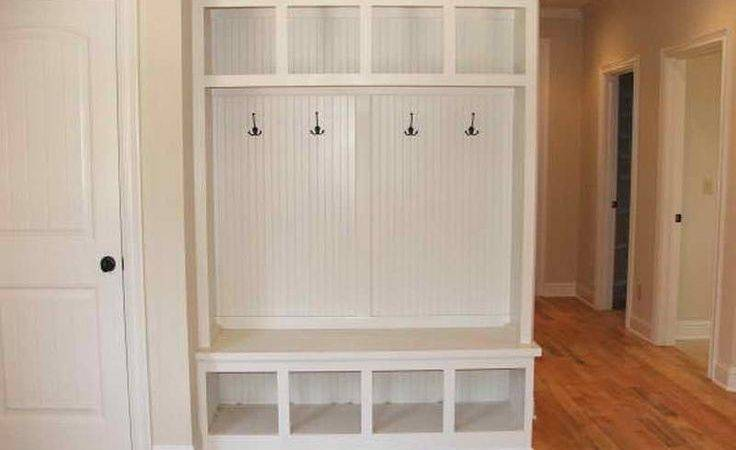 Mudroom Corner Bench Lockers Home Decor Pinterest