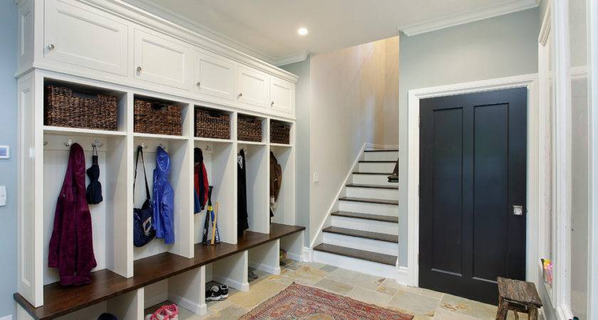 Mudroom Cubbies Contemporary Crown Molding