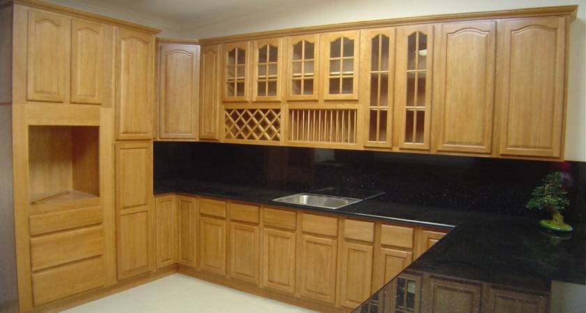 Natural Oak Kitchen Cabinets Solid All Wood