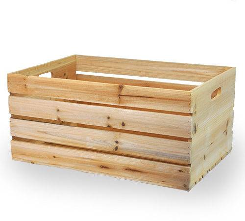 Natural Wooden Storage Crate Handles Extra Large