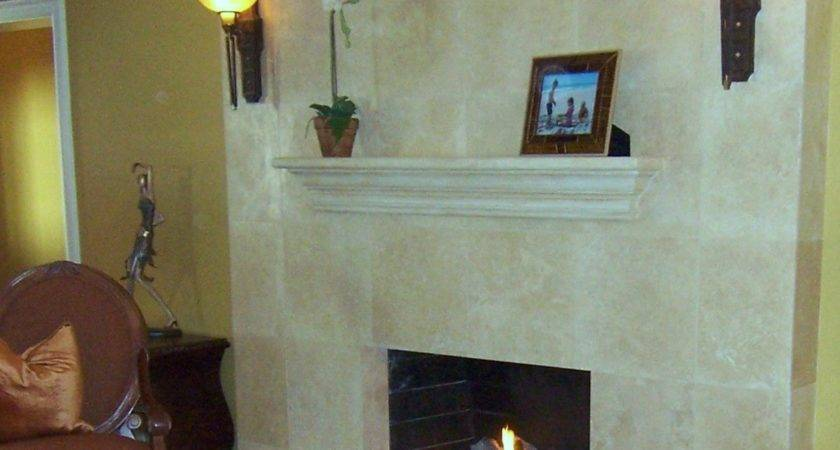 Natural Yellow Nuance Fireplace Refacing Ideas