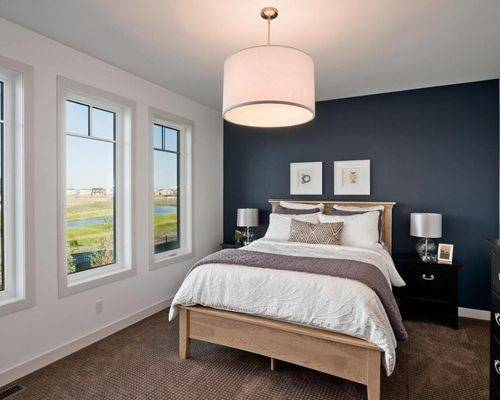 Navy Accent Wall Ideas Remodel Decor