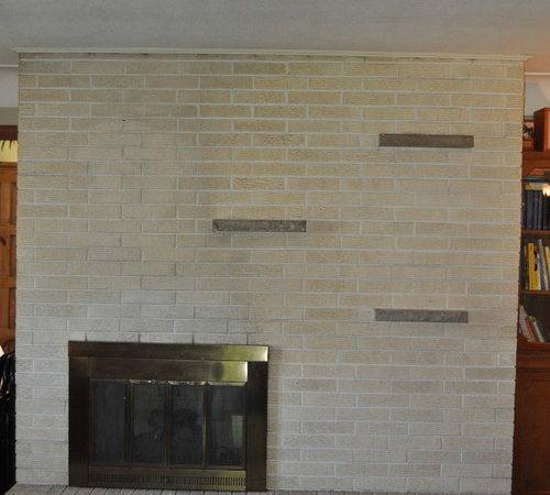 Need Ideas Our Brick Fireplace