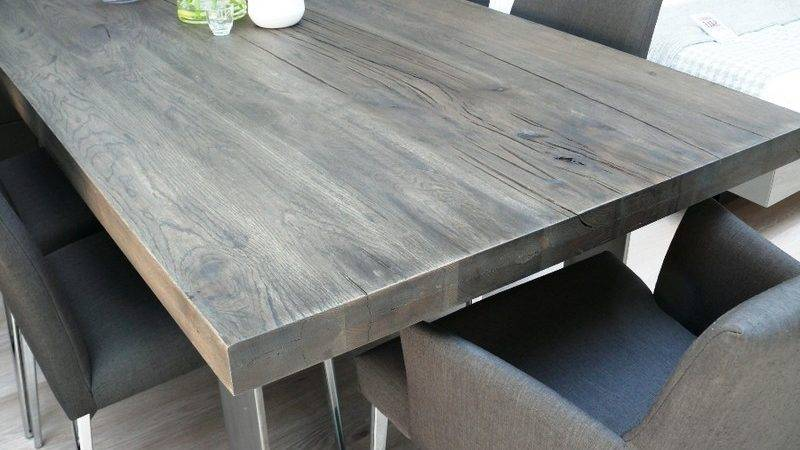 New Arrival Modena Wood Dining Table Grey Wash