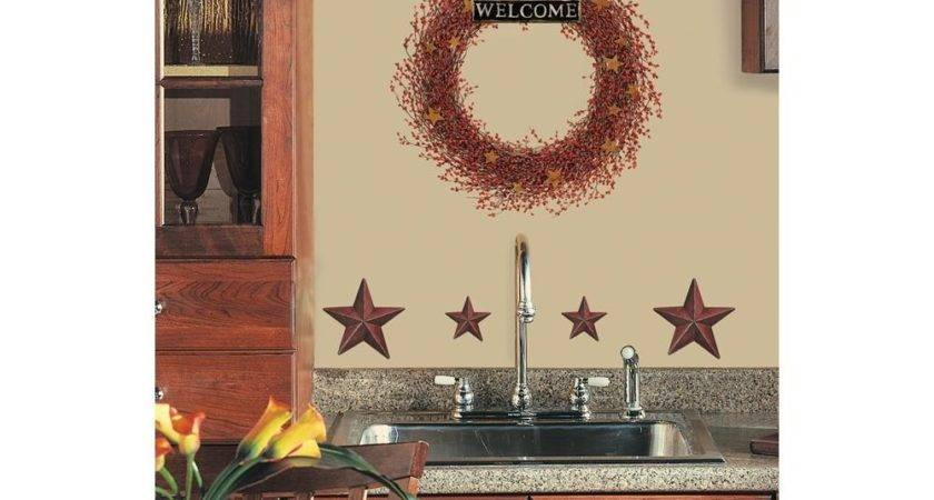 New Berry Vines Wreath Stars Wall Decals Country Kitchen