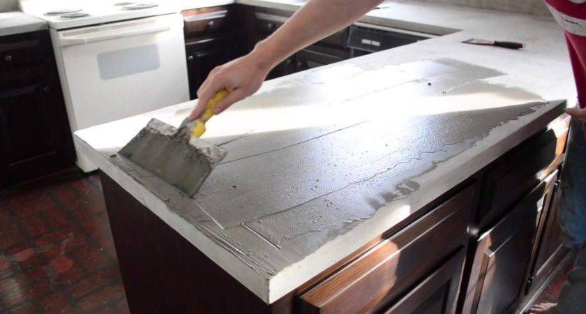 New Diy Concrete Countertops Over Laminate House Design