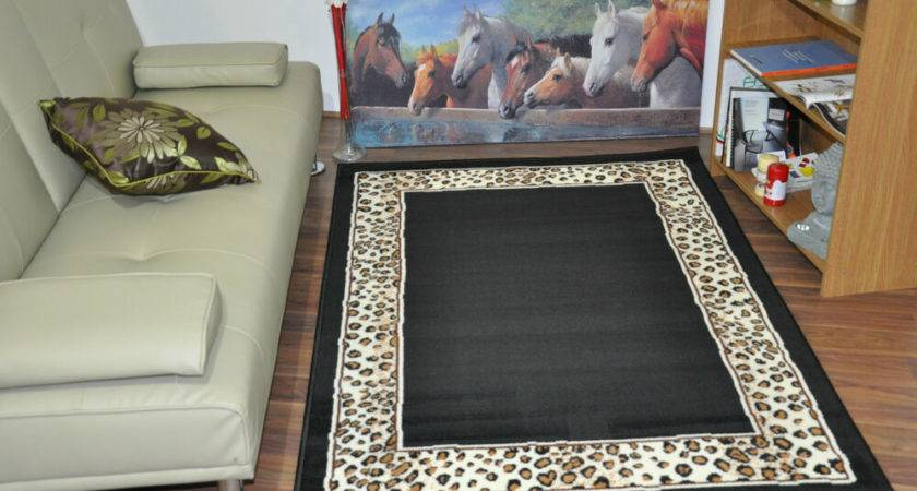 New Extra Large Modern Soft Leopard Animal Print Area Rugs