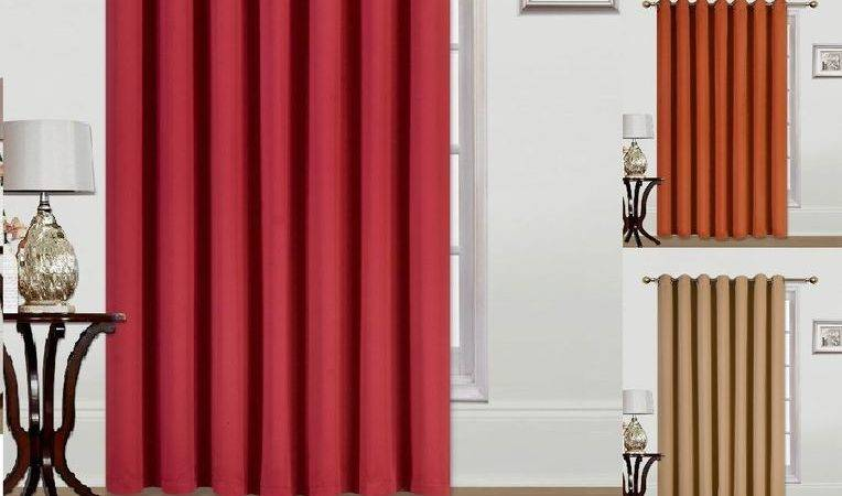 New Extra Wide Window Grommet Panel Curtain Heavy Thick