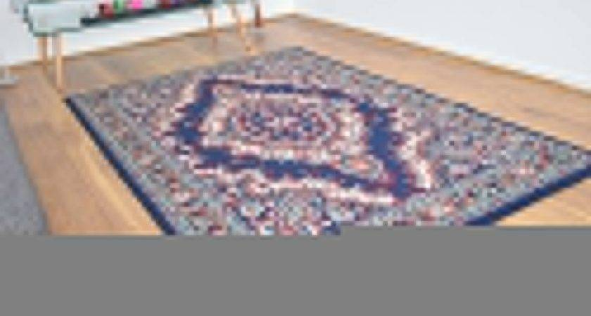 New Navy Blue Large Modern Traditional Medallion Area Rugs