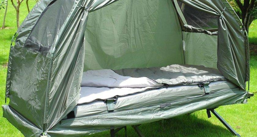 New Outsunny Single Portable Camping Tent Bed Cot