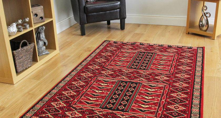 New Red Traditional Rugs Small Medium Large Rug Runner