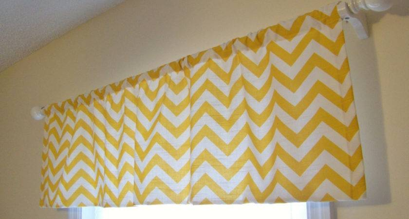 New Sale Price Yellow Chevron Window Valance
