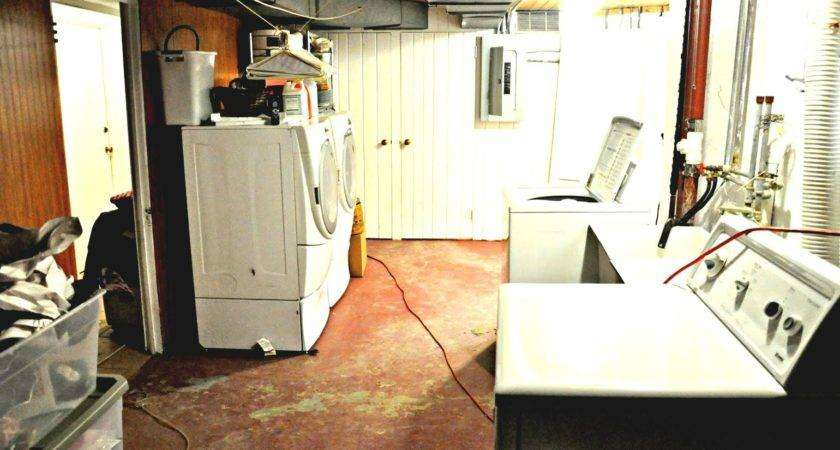 New Unfinished Basement Laundry Room Ideas