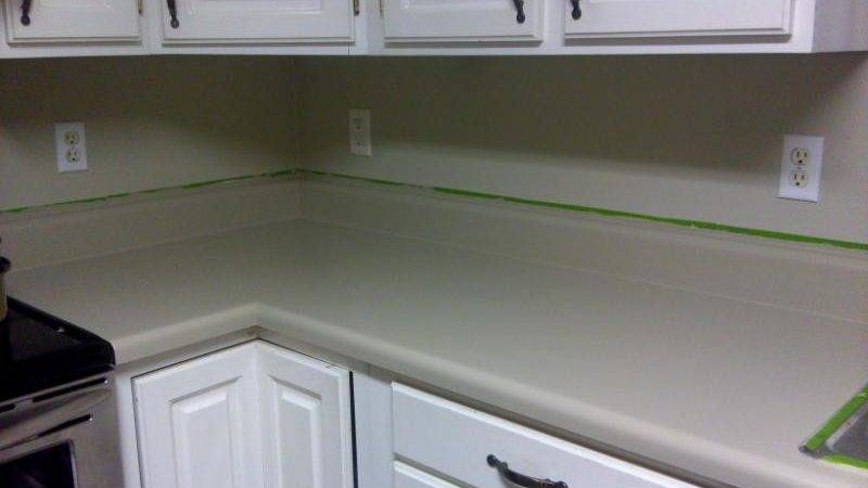 Newlywed Hares Paint Your Countertop