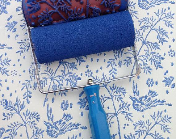 Notwallpaper Featuring Patterned Paint Rollers