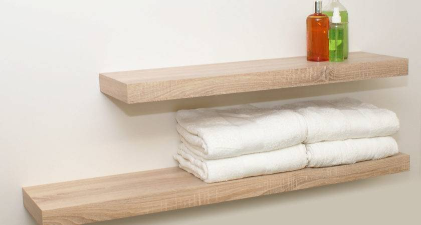 Oak Effect Bookcase Floating Shelf Kit Lowe