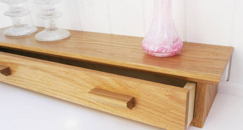 Oak Shelf Drawer Cairn Wood Design