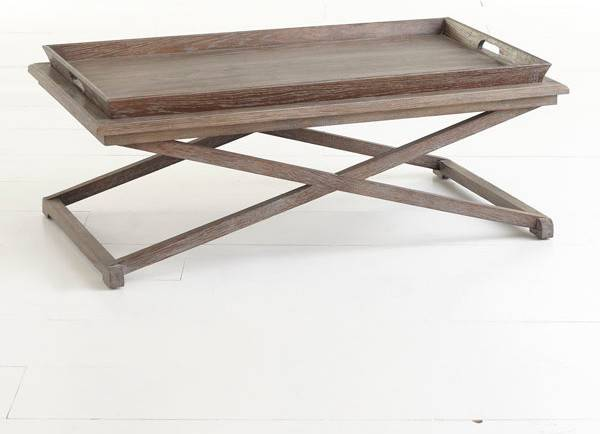 Oak Tray Coffee Table Traditional Tables