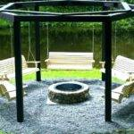 Octagon Fire Pit Must Gazebo Plans Porch Swing Home