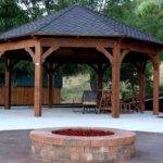 Octagon Fire Pit Swing Design Ideas